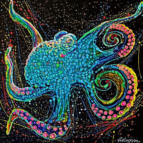 Octopus Print By Hayden Simpson