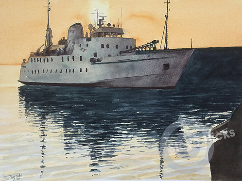 Scillonian III Original Artwork By Steve Hicks