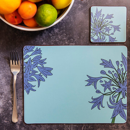 Scilly Agapanthus Place Mats