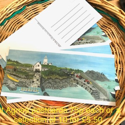 St Agnes postcard collection of 10