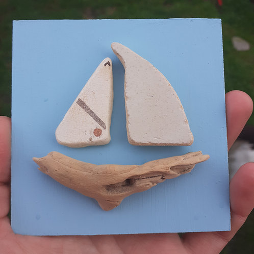 Driftwood and Seapottery boat