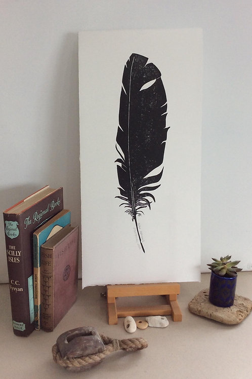 Feather I Print-By Vickie Heaney