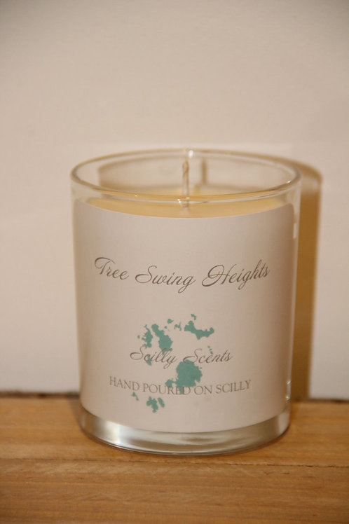 Tree Swing Heights Scented Candle made on St Marys