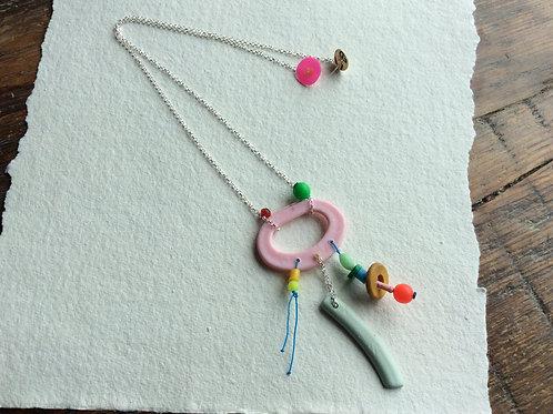 Beach plastic dangle necklace