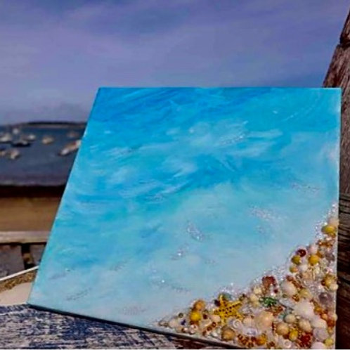 Sea and Shells- Original Artwork By Maggie Dean