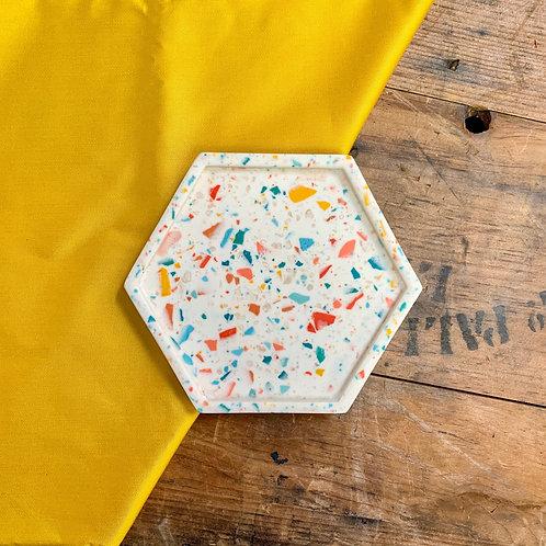 Terrazzo Hexagon Dish