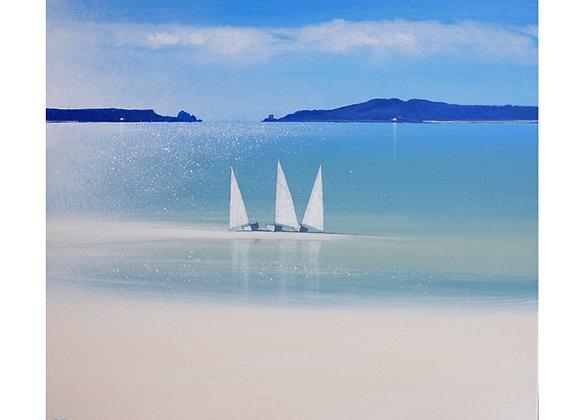Three Sails In Tresco Channel