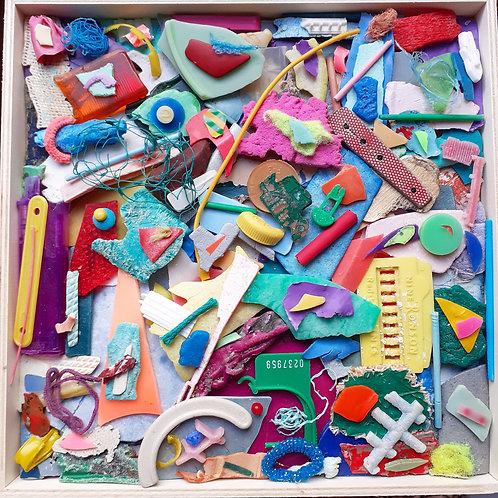 Ocean plastic Abstract
