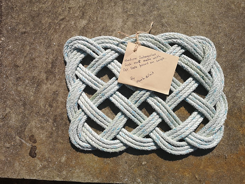 Retangular Rope Mat - Made On St.Agnes