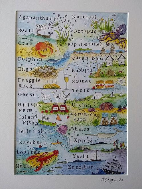 Bryher Alphabet - Print By Alex Bagnall