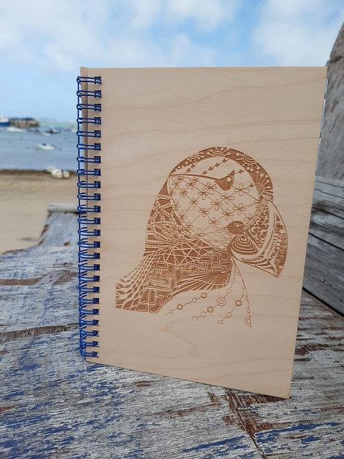 Puffin Wooden Notebook