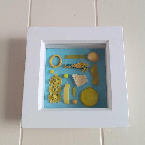 Yellow beachcombing board  - Original Artwork By Emma Bagnall-Oakeley