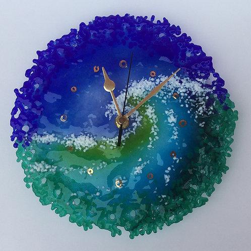 Glass Wave Clock