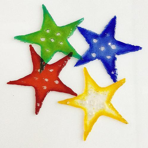 Glass Christmas Decorations - Stars