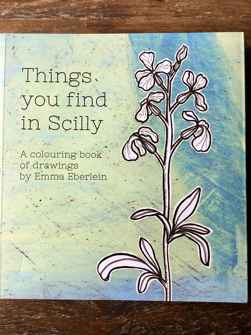 Colouring book -'Things you find in Scilly' By Emma Eberlein