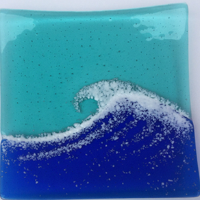 004 - Fused glass dish