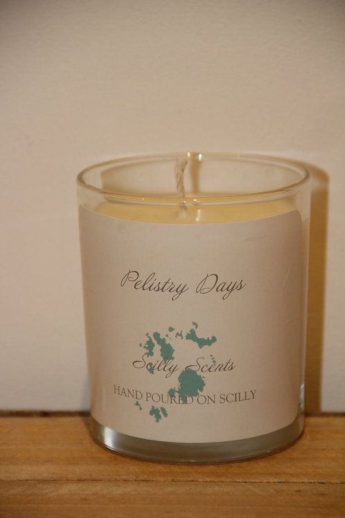Pelistry Days Scented Candle made on St Marys