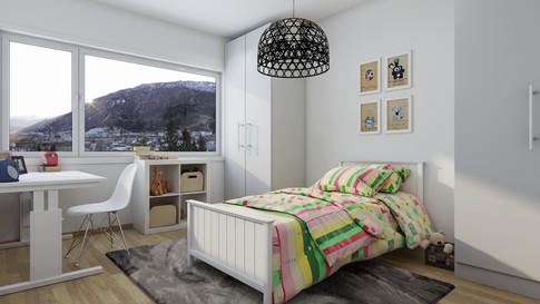 Computer generated image reneder of internal bedroom