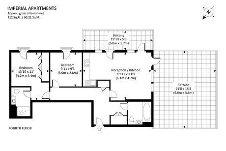 2D Black and White Floor Plan