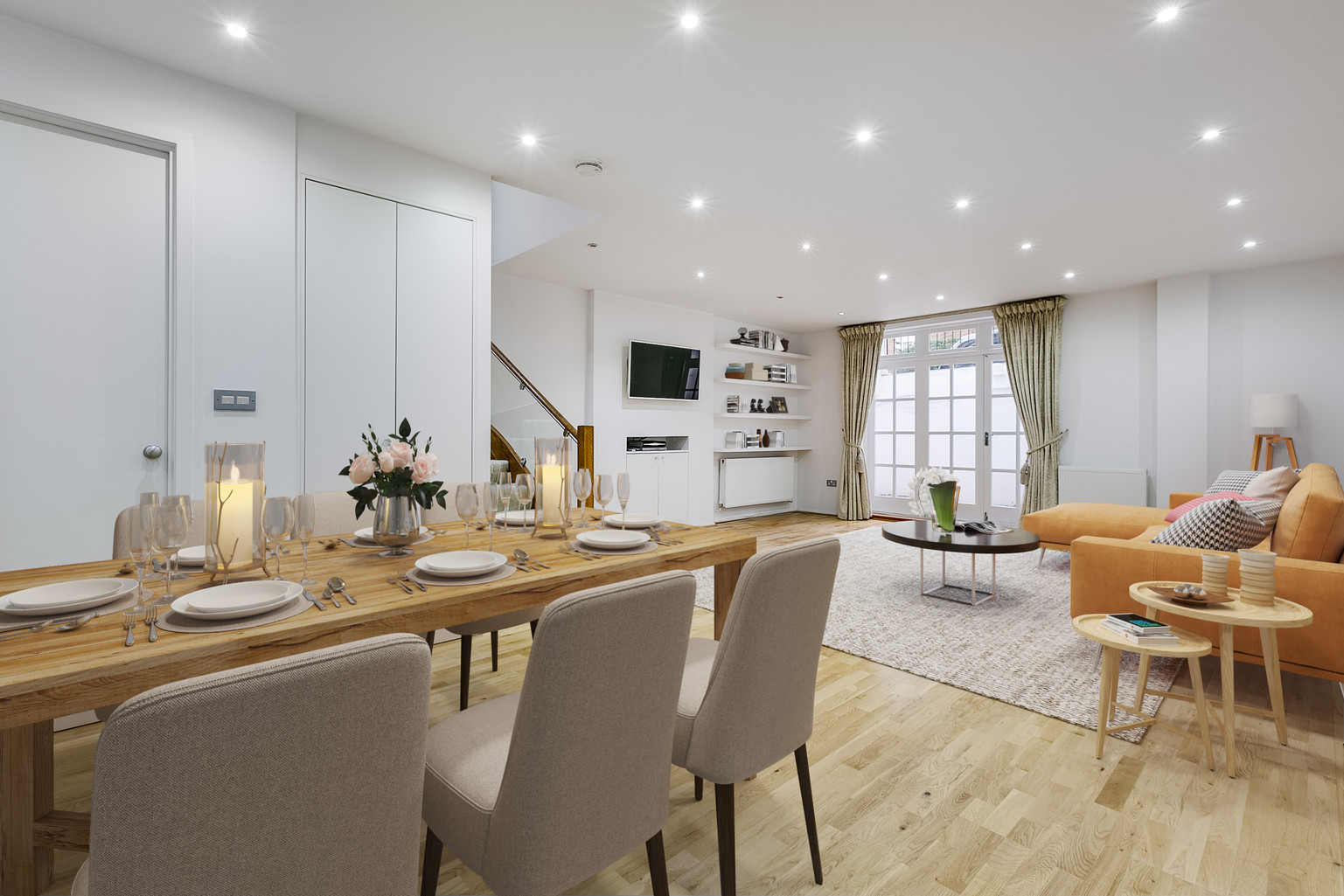 Virtual Staging Dining room