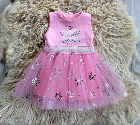 ПЛ60/5-Ф Платье «Снежинка» РОЗОВЫЙ