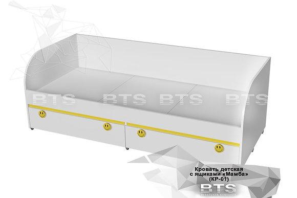 Кровать с ящиками Мамба