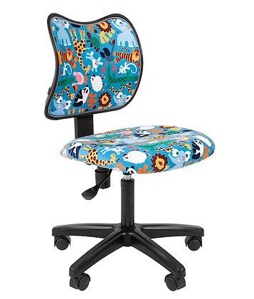 Детское кресло CH KIDS 102 черный каркас/ зоопарк