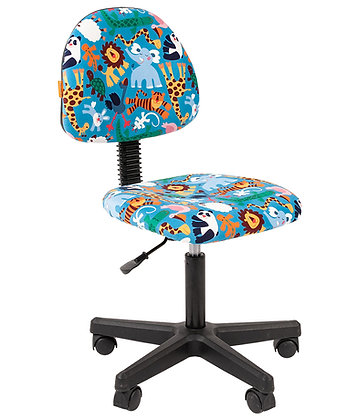 Детское кресло CH KIDS 104 черный каркас/ зоопарк