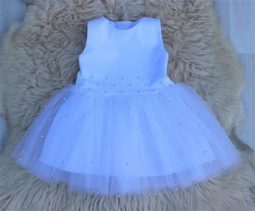 ПЛ60-Ф Платье «Бусинка» БЕЛЫЙ