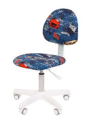 Детское кресло CH KIDS 104 белый каркас/ машинки