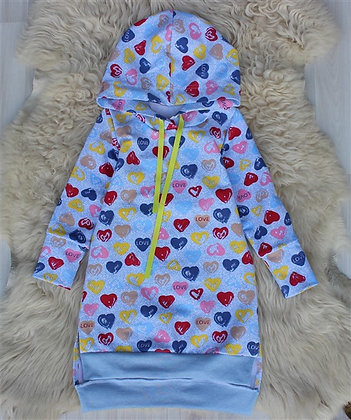 ПЛ47-Ф Спорт-Платье «Сердечки»