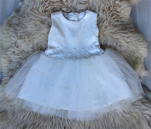 ПЛ60-Ф Платье «Бусинка» МОЛОКО