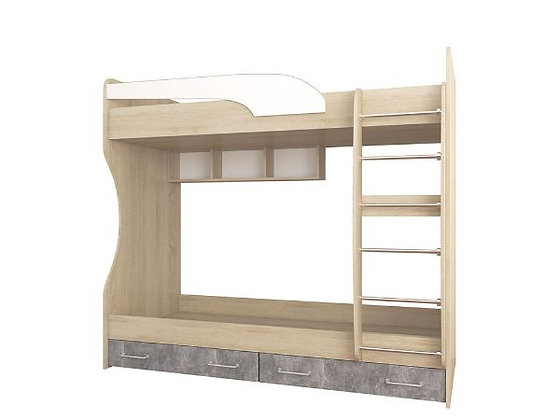 Кровать двойная Лофт Детская Колибри ~ Размеры:1892 x 1700 x 950