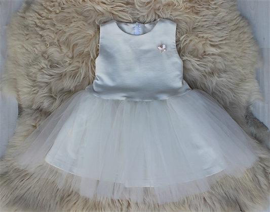 ПЛ60/2-Ф Платье «Брошь» МОЛОКО