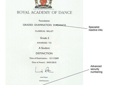 Learn about RAD Certificates, result forms, medals