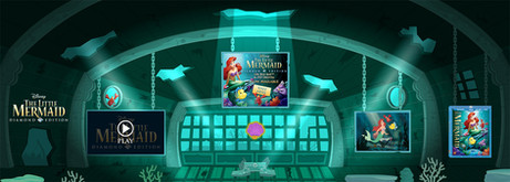 Little Mermaid Interior Game Environment