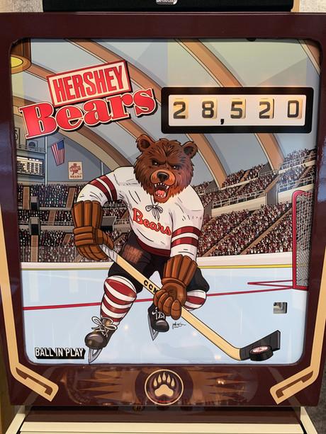 Hershey Bears Custom Pinball Backglass