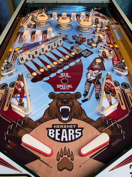 Hershey Bears Custom Pinball Playfield