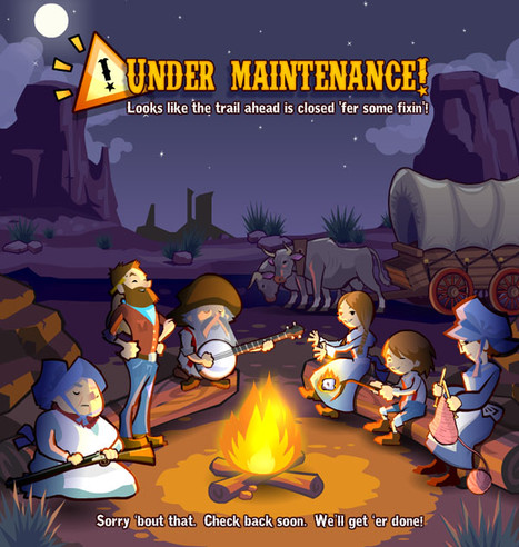 Oregon Trail Maintenance Screen