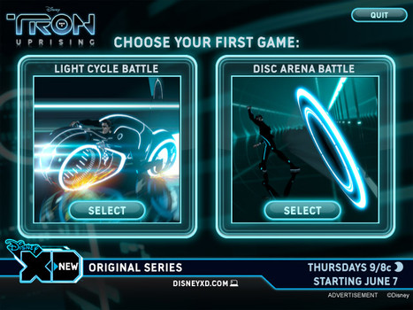 Tron Uprising Game Select Screen