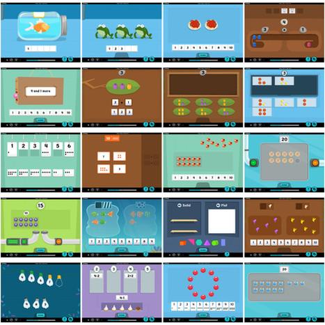 iReady Math Grade 1 UI Screens