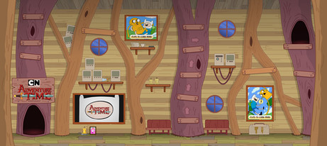 Adventure Time Interior Game Environment