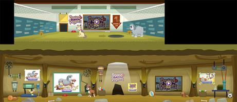 Pound Puppies Interior Game Environment