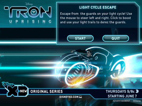 Tron Uprising Start Screen