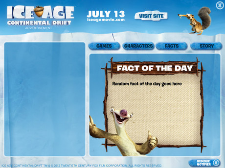 Ice Age Notifier UI