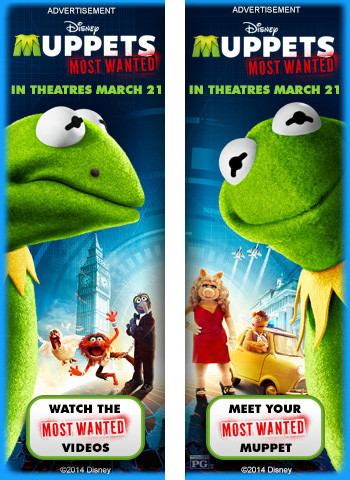 The Muppets Most Wanted Wrapper Ad