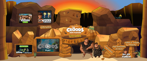 The Croods Interior Game Environment