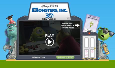 Monsters Inc. Ad Unit