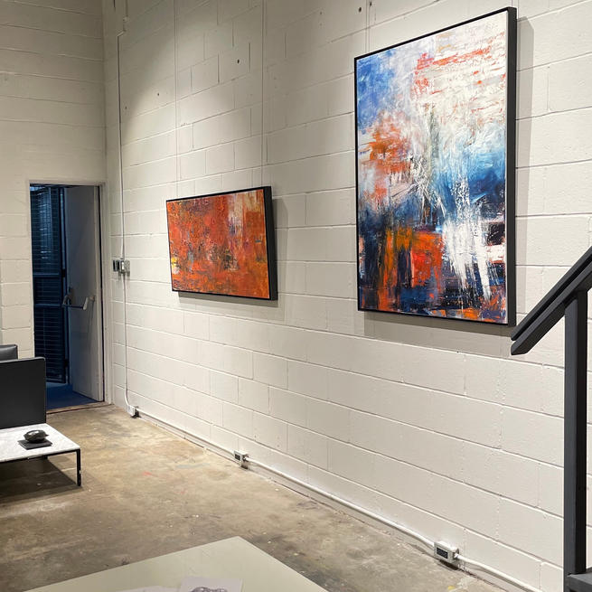 'Raining Sun' and 'Blue Tiger Cascade' at the Arterial Gallery in Toronto