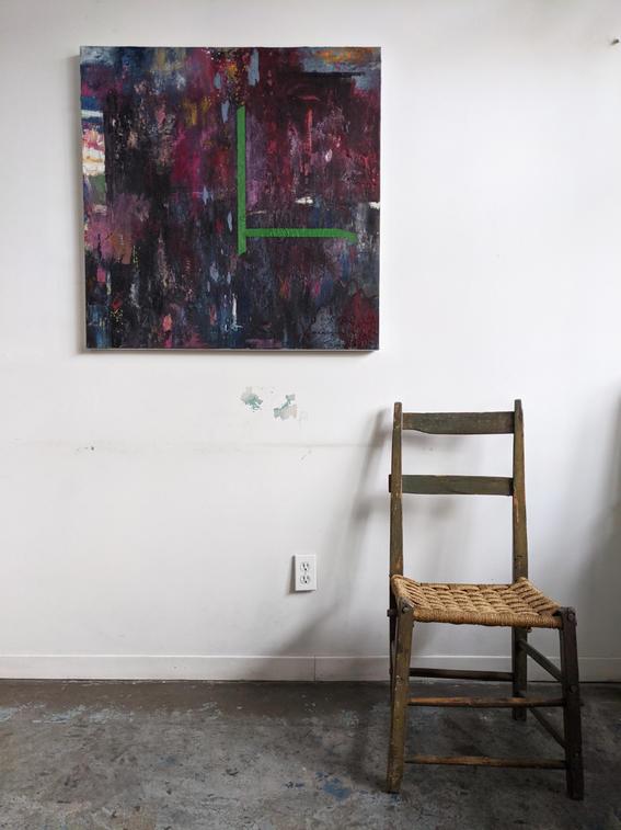 Sitting Chair on a Raspberry Summer Night